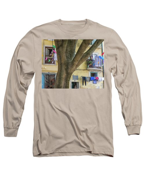 Long Sleeve T-Shirt featuring the photograph Behind The Tree by Patricia Schaefer