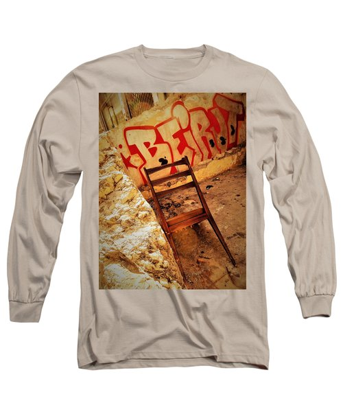 Beirut Graffiti With A Lonely Chair  Long Sleeve T-Shirt