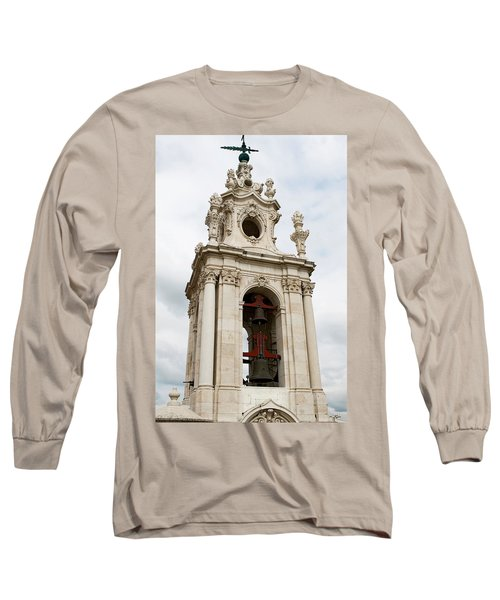 Long Sleeve T-Shirt featuring the photograph Bell Tower With Red   by Lorraine Devon Wilke