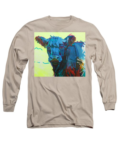 Belted Galloway Cow On Dartmoor Long Sleeve T-Shirt