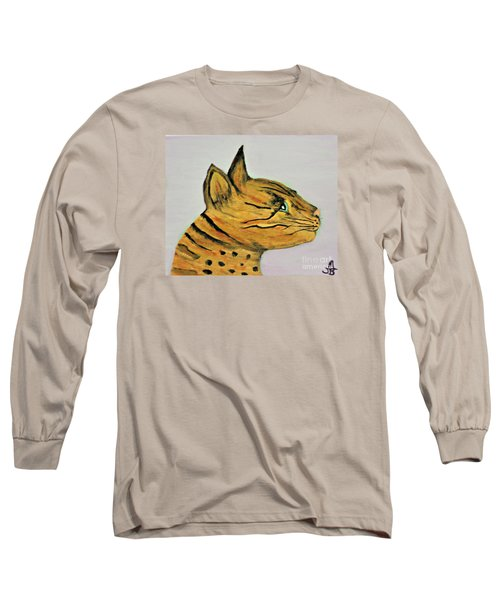 Bengal Cat  Long Sleeve T-Shirt by Mindy Bench
