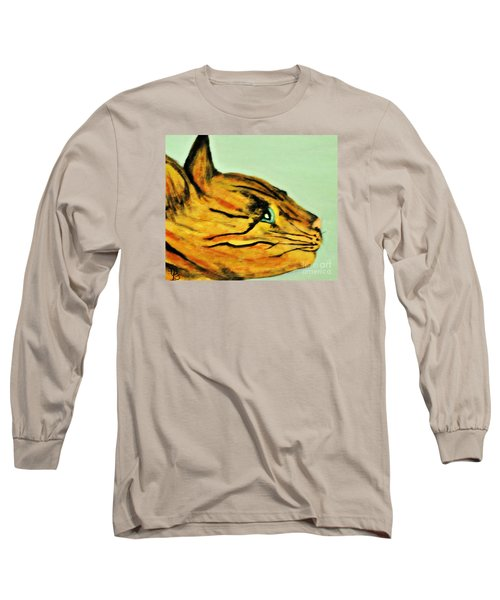 Bengal Kitty  Long Sleeve T-Shirt by Mindy Bench
