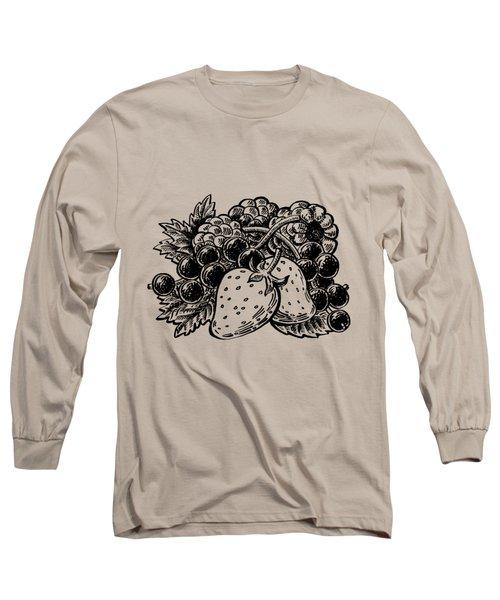 Berries From Forest Long Sleeve T-Shirt by Irina Sztukowski