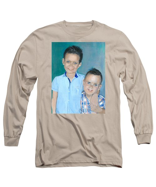 Best Brothers - Painting Long Sleeve T-Shirt by Veronica Rickard
