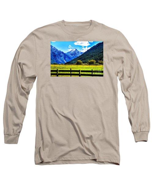 Beyond The Fence Long Sleeve T-Shirt by Rick Bragan