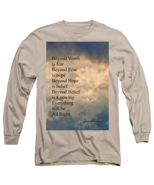 Long Sleeve T-Shirt featuring the painting Beyond Words by Joan Reese