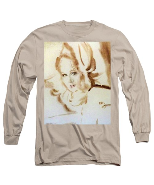 Long Sleeve T-Shirt featuring the painting Bibi From Bordeaux by Ed Heaton