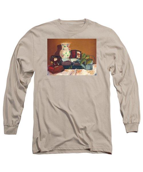 Long Sleeve T-Shirt featuring the painting Bible Stories by Jane Autry