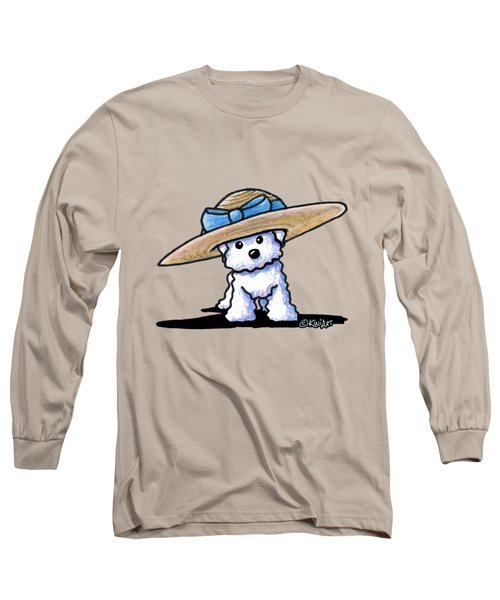 Bichon In Hat Long Sleeve T-Shirt