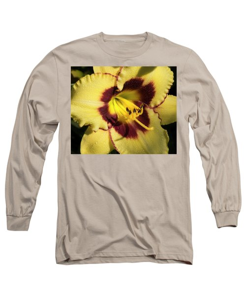 Long Sleeve T-Shirt featuring the photograph Bicolored Lily by Jean Noren