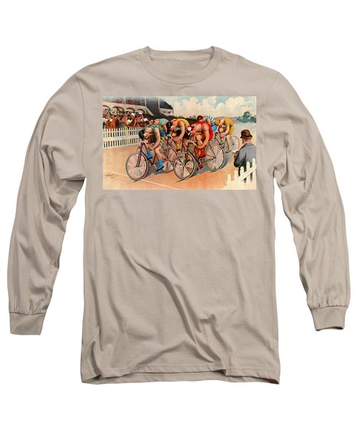 Bicycle Race 1895 Long Sleeve T-Shirt by Padre Art