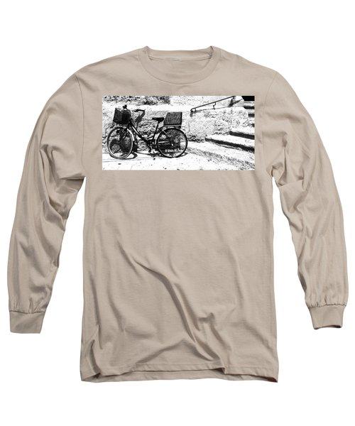 Bicyle In Cuitadella Long Sleeve T-Shirt