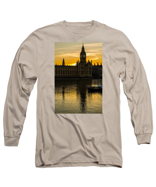 Big Ben Tower Golden Hour In London Long Sleeve T-Shirt
