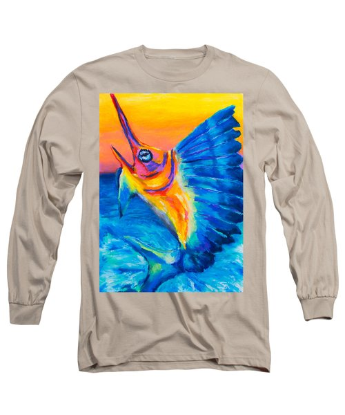 Long Sleeve T-Shirt featuring the painting Big Blue by Stephen Anderson