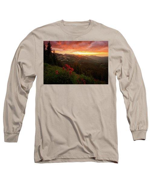 Big Cottonwood Sunset Long Sleeve T-Shirt