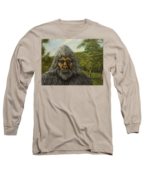 Long Sleeve T-Shirt featuring the painting Big Foot In Pennsylvania by James Guentner