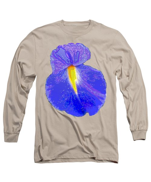 Big Mouth Iris Long Sleeve T-Shirt by Marian Bell