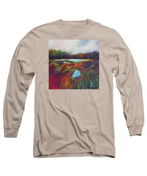 Big Pond In Fall Mc Cormick Woods Long Sleeve T-Shirt by Marti Green