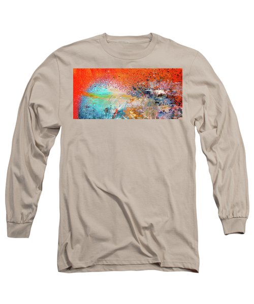 Big Shot - Orange And Blue Colorful Happy Abstract Art Painting Long Sleeve T-Shirt