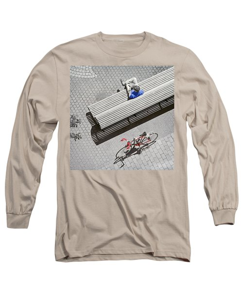 Bike Break Long Sleeve T-Shirt by Keith Armstrong