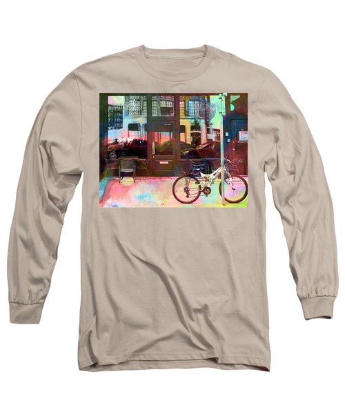 Long Sleeve T-Shirt featuring the digital art Bike Ride To Runyons by Susan Stone