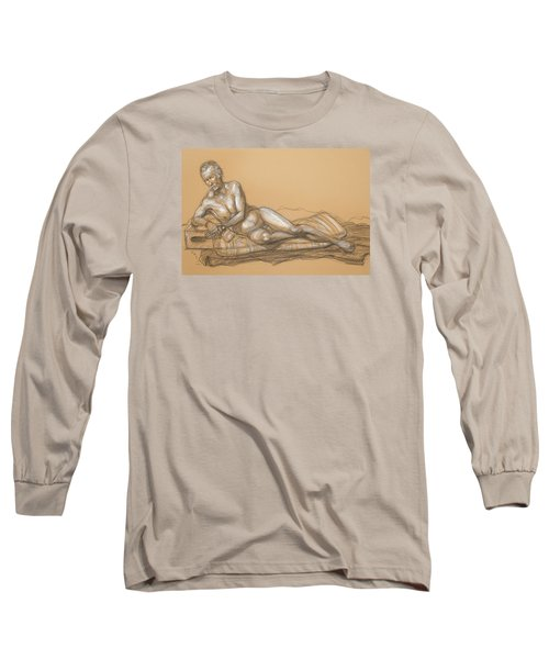 Bill Reclining Long Sleeve T-Shirt by Donelli  DiMaria