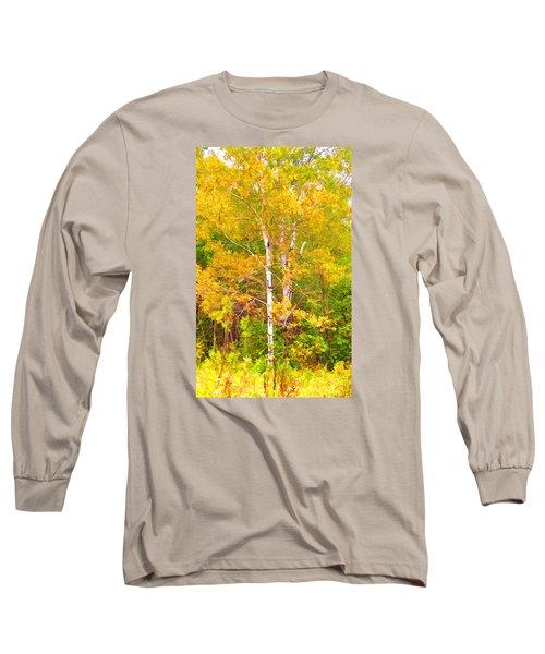 Birch Afire  Long Sleeve T-Shirt