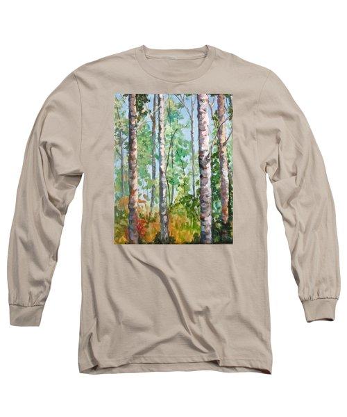 Birch Long Sleeve T-Shirt by Barbara O'Toole