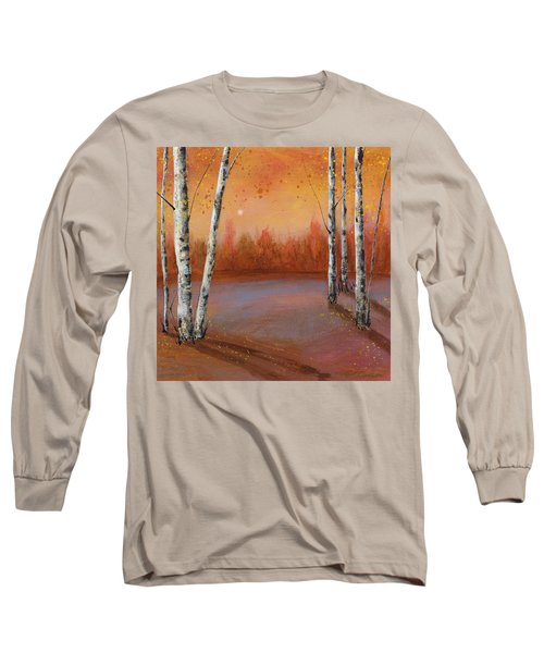Birches In The Fall Long Sleeve T-Shirt