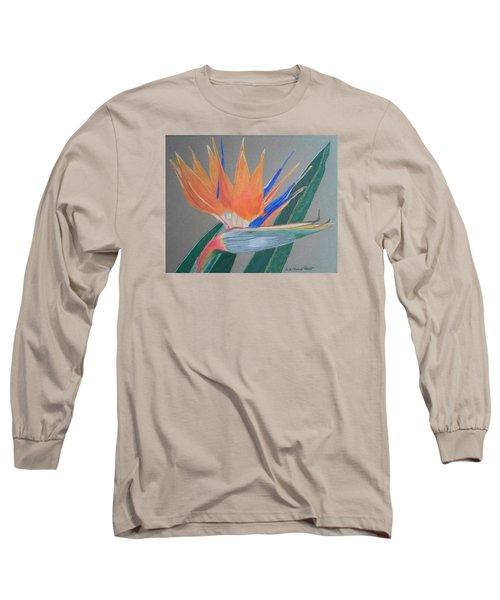 Bird Of Paradise Long Sleeve T-Shirt by Anita Putman