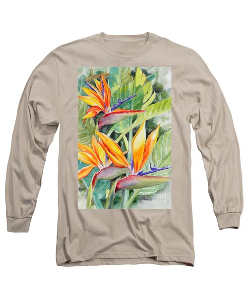 Bird Of Paradise Flowers Long Sleeve T-Shirt