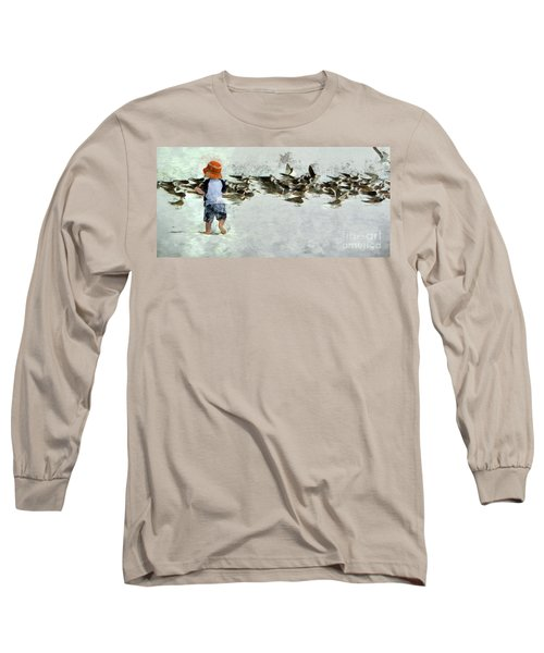 Bird Play Long Sleeve T-Shirt