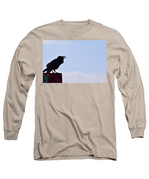 Crow Profile Long Sleeve T-Shirt by Sandy Taylor