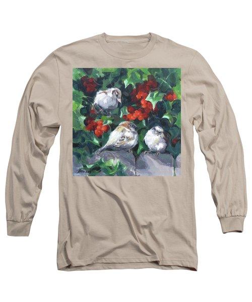 Bird Watching Long Sleeve T-Shirt by Karen Ilari
