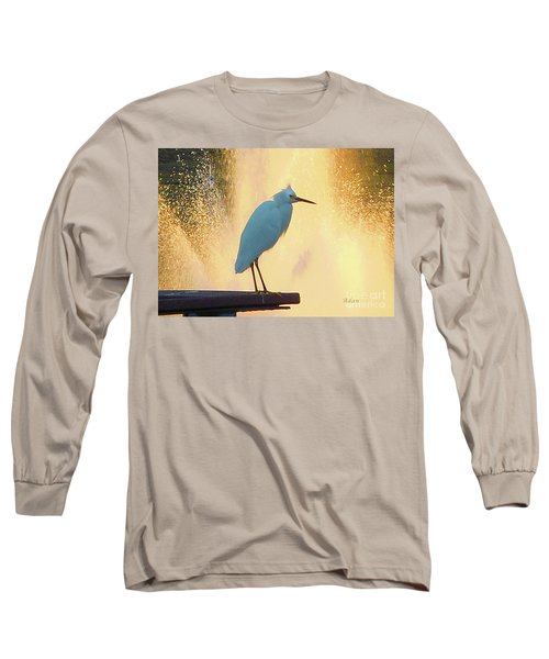 Birds And Fun At Butler Park Austin - Birds 3 Detail Macro Long Sleeve T-Shirt by Felipe Adan Lerma