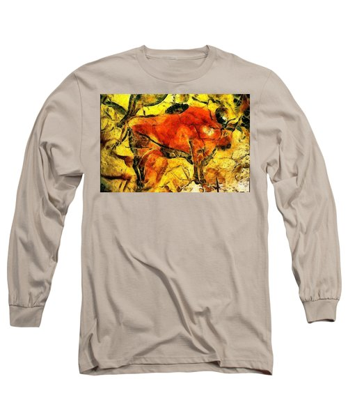 Bison Long Sleeve T-Shirt by Anton Kalinichev