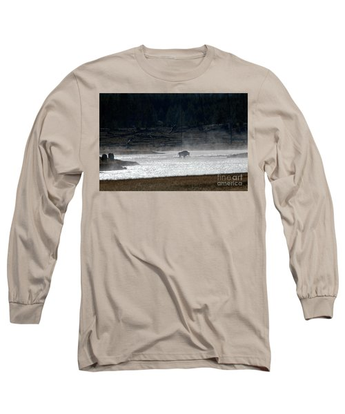 Bison In The River Long Sleeve T-Shirt