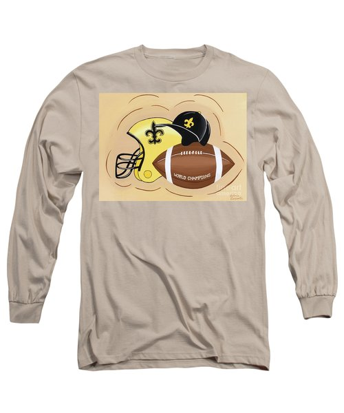 Black And Gold Champs Long Sleeve T-Shirt