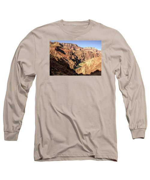 Black And Silver Bridges Spanning The Colorado River  Grand Canyon National Park Long Sleeve T-Shirt