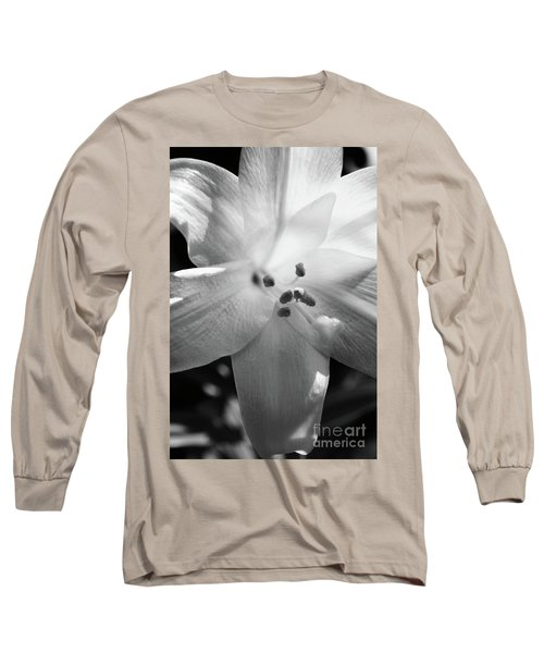 Black And White Easter Lily Long Sleeve T-Shirt