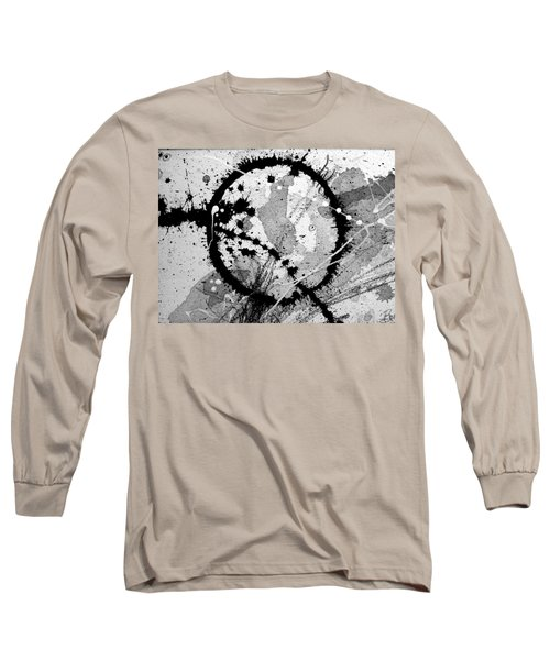 Black And White Five Long Sleeve T-Shirt by Tracy Bonin