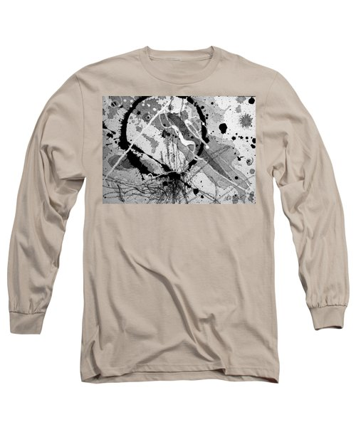 Black And White One Long Sleeve T-Shirt by Tracy Bonin