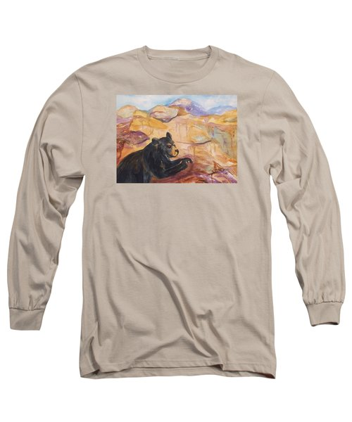 Black Bear Cub Long Sleeve T-Shirt by Ellen Levinson