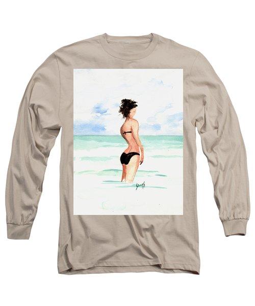 Black Bikini Long Sleeve T-Shirt