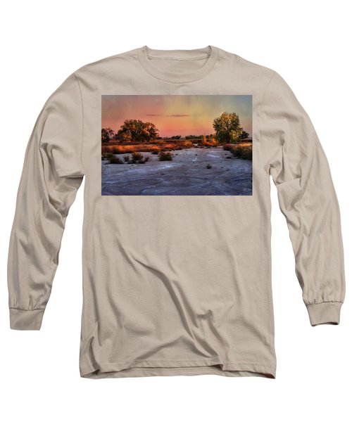 Long Sleeve T-Shirt featuring the photograph Black Squirrel Creek Fall Scape by Ellen Heaverlo