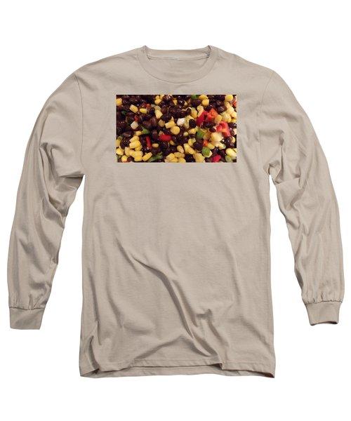 Blackbean Salad Long Sleeve T-Shirt by Don Koester