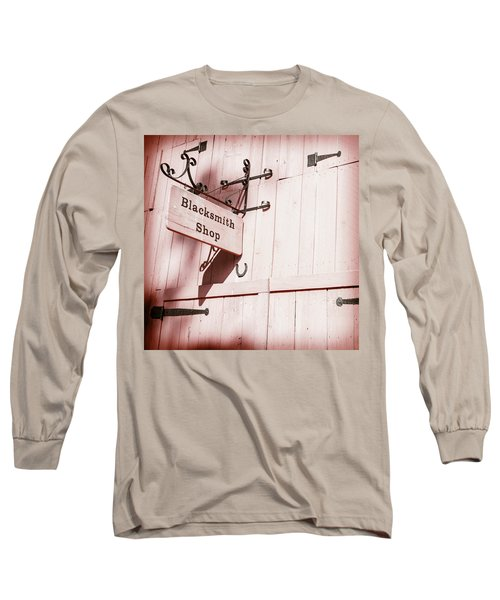 Long Sleeve T-Shirt featuring the photograph Blacksmith Shop by Alexey Stiop