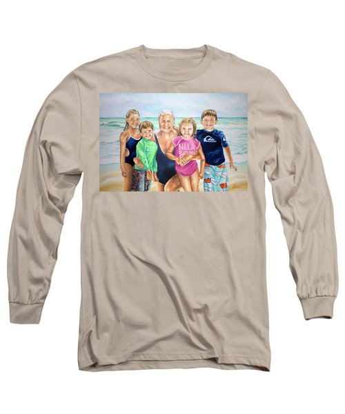 Long Sleeve T-Shirt featuring the painting Blackwelder by William Love