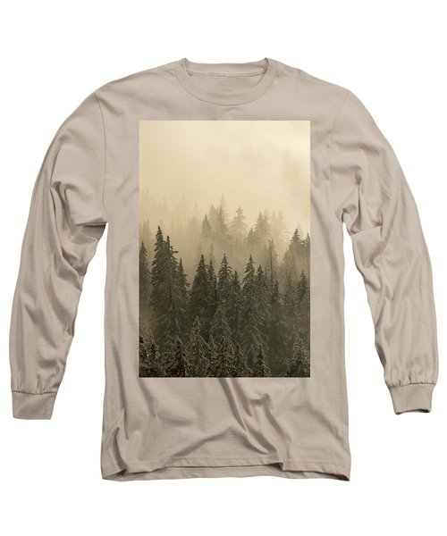 Long Sleeve T-Shirt featuring the photograph Blanket Of Back-lit Fog by Dustin LeFevre