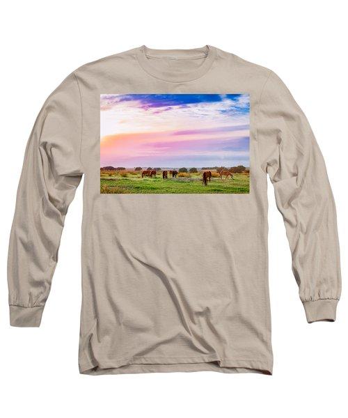 Blazing Sky Diner Long Sleeve T-Shirt